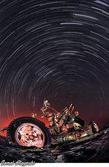 Star Wars (Jamal Alayoubi) Tags: soldier kuwait night long exposure sky star trail arab middle east north polar machine gun desert war space air defense army iraq nikon d3 nikkor 16mm fisheye jamal alayoubi