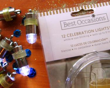 mini lights for Hanukkah craft
