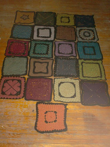 Sampler Afghan - preblocking