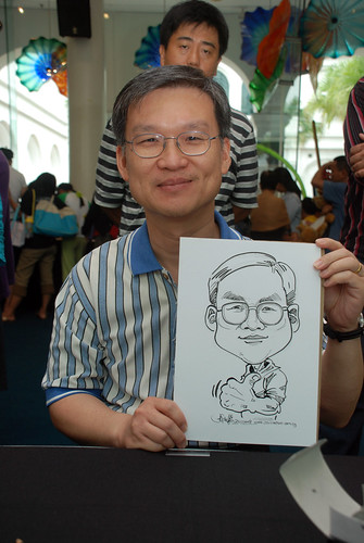 Caricature live sketching at Singapore Art Museum Christmas Open House - 9