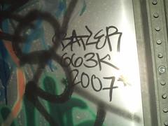 BATLE 663 (tica_tica_tss) Tags: yard death graffiti ad rick nasa barf fart blah script freight ki hof zombi owie sts dout nts pbk batle pvs kog rasp huke limoe ogk lude reak lgf 663k conrailtwitty gafle ryoe buroe nest34