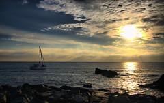 Sailing into the sunset (Dan Baillie) Tags: sunset sea sky sun water clouds port scotland boat nikon rocks yacht sail portfolio portpatrick dumfriesandgalloway puddock wigtownshire danbaillie bailliephotographycouk bailliephotography wigtownshirephotographer dumfriesandgallowayphotography