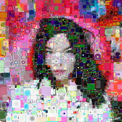 Bjork | All is full of color (Village9991) Tags: portrait people colors iceland mosaic deception photomosaic illusion bjork tribute rtist village9991