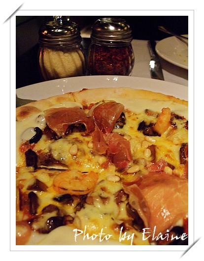 朝鮮薊鮮蝦披薩
