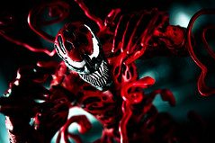 Attack (pairadocs) Tags: red toy actionfigure book mod comic action attack spiderman evil comicbook figure carnage psychopath custom marvel villain psychotic symbiotic modded symbiote pairadocs cletuskasady pairadocsdesignlab