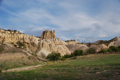 Late afternoon (Lynn photographing the world) Tags: rock stone turkey landscape turkiye erosion geology plain cappadocia