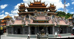 The magnificent Guandu Temple in Taipei, Taiwan (SpirosK photography) Tags: panorama art heritage beautiful temple awesome taiwan taipei stitched magnificent guandu statuettes