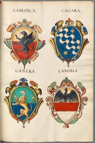 Familienwappen kleinerer Adelshäuser von Verona mit Buchstaben b