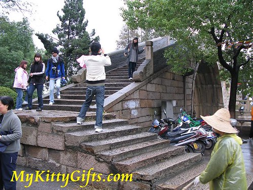 Hello Kitty's View of Bridge and Steps at SuZhou