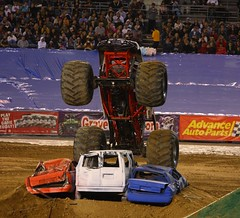 Bow before me! (San Diego Shooter) Tags: sandiego arachnaphobia monstertrucks monsterjam monsterjamsandiego arachnaphobiamonstertruck