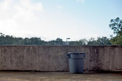 bin (xgray) Tags: morning sky color wall trash digital canon austin concrete eos 50mm prime texas gray cement can bin 5d trashcan minimalism ef50mmf14usm canoneos5d uploadx postedtophotographersonlj