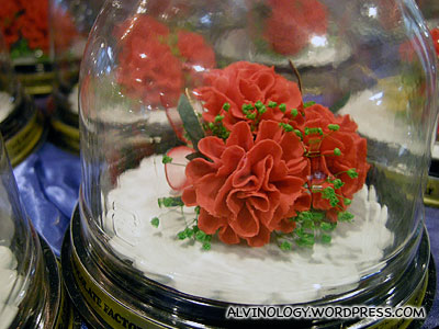 Flower-shaped pastries