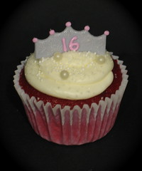 sweet sixteen crown cupcake by two parts sugar