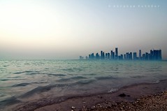floating City! (puthoOr photOgraphy) Tags: beach skyline nikon shore doha lightroom ashore westbay d90 adobelightroom lightroom3 tokinaaf1116mm amazingqatar tokina11 puthoor gettyimagehq