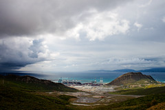 Port of Tanger (Kariido85) Tags: blue sea mountains green clouds rural port work landscape spain industrial morocco marokko tanger tetouan