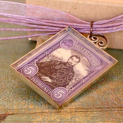 Lord Vetinari Stamp Necklace - Ankh Morpork / Discworld Stamp