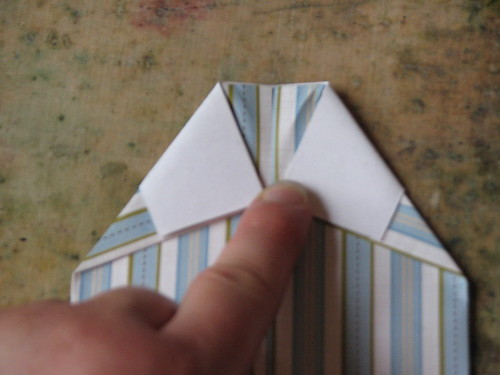 Origami Shirt Card & Tie 008