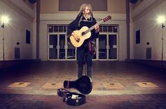 161/365 Acoustic Paradise (matthewcoughlin) Tags: portrait dreadlocks theater paradise guitar 7d streetperformer softbox rasta fiddler cowboyboots acoustics saenger strobist 430exii 3652011 2011inphotos