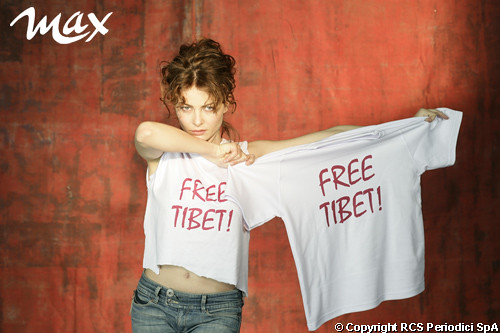 Violante Placido & Max for Free Tibet