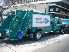New city trash trucks at Wilshire Center Earth Day Celebration (LA Wad) Tags: california ford trash losangeles garbage rubbish southerncalifornia refuse recycle recycling koreatown fordtruck earthday garbagetruck losangelescounty trashtruck wilshireboulevard newway wilshirecenter sanitationdepartment earthday2008 wilshirecenterearthdaycelebration newwaydiamondback