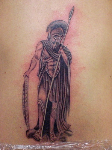 spartan warrior tattoo. spartan