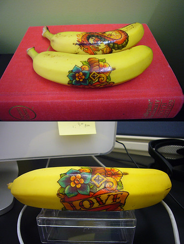 Cubicle art: bananas tattoo case study one and two