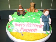 Cake for Retiring nurse (terrisstuff64) Tags: cake figure retirement fondant