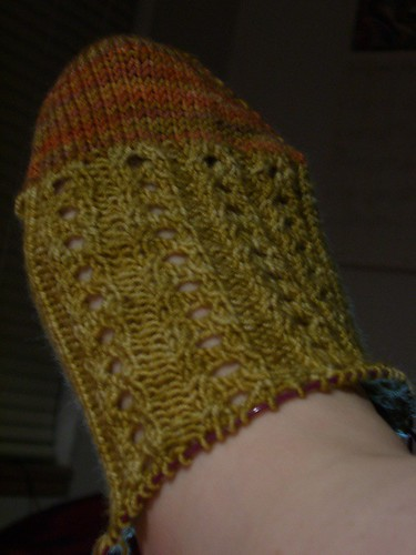 Autumn Harvest Sox - eyelet rib