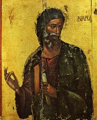 Icons of Cyprus: St Andrew (Peter Denton) Tags: art church painting religion cyprus eu icon christianity cipro standrew zypern orthodoxchurch kypros chypre cyper