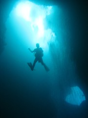 Diver in the Blue Holes