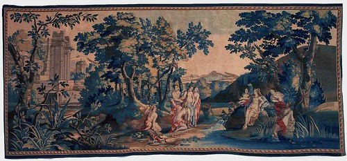 09-Callisto's pregnancy revealed-Mortlake tapestry, Callisto series, c. 1680-1700