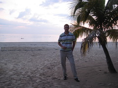 Eric on beach before dinner