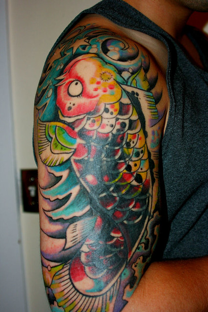 Japanese Koi Carp Tattoo. Ok I skipped posting session 2 on here and seesion