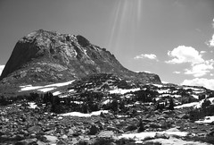 The Wind River Range (munckee) Tags: blackandwhite bw sunlight mountains