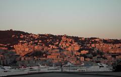 Genova per noi (Hik_kup) Tags: pink sunset tramonto rosa genova porto seaport