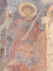Fresco of armed saint (steven_and_haley_bach) Tags: fresco byzantine mystras sixthday mistras greecevacation byzantineruins