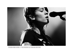Tegan and Sara @ ABC 1, Glasgow | 24.06.2008 (sarah bastin / redbookprojekt) Tags: uk blue bw music color rock sarah vancouver 1 concert sara photos montreal glasgow abc teganandsara quin tegan scotalnd bastin