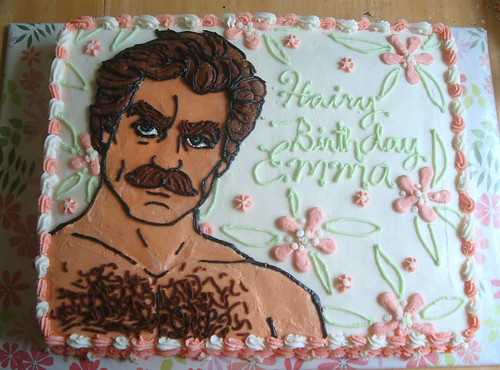 Alicia Policia's Tom Selleck Cake