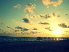 summer (kevkev44) Tags: sunset beach clouds tampa landscape sand florida crossprocessing boardwalk picnik tampaflorida redingtonbeachflorida