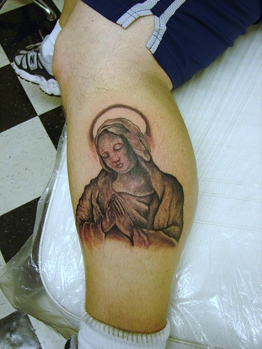 mary tattoos. Virgin mary