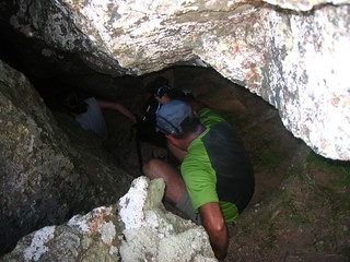 L'entrée du tunnel spéléo