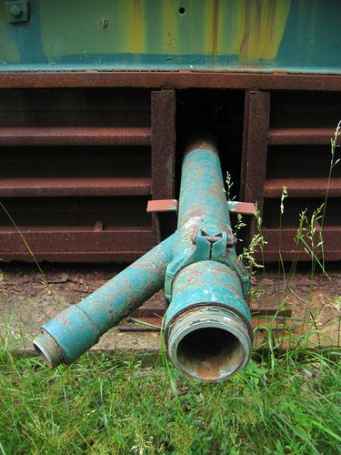 The rusted pipes