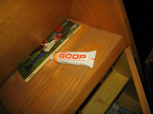 Tube of household goop