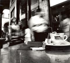 La Solitudine degli Elementi #10 (Mohav [Trafficante di Sarde]) Tags: fab italy 120 6x6 coffee darkroom mediumformat 50mm italia hasselblad bologna kodaktrix caffè distagon selfdeveloped cameraoscura silverprint ilfordpaper 503cx medioformato roxybar bncittà durstm800 lasolitudinedeglielementi