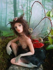 #74 Amapola ~ Poppy Fairy (Nenfar Blanco) Tags: sculpture art doll oneofakind ooak polymerclay fairy fantasy faerie hada fae arcillapolimrica nenufarblanco