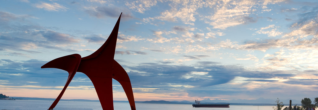 """Eagle"" at Olympic Sculpture park, Seattle"