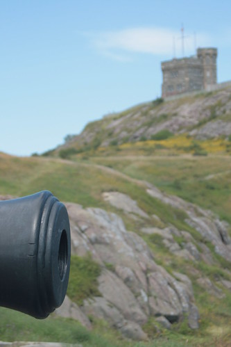 Queens Battery on Signal Hill - Cabot Tower in Soft Focus in the Background