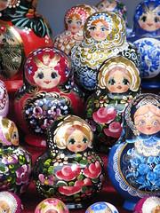 Matryoshka dolls (nesting dolls) (daneen_vol) Tags: travel color stpetersburg doll russia petersburg matryoshka