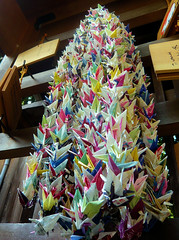 Hundreds of origami