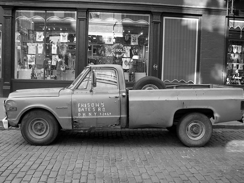 old truck in soho